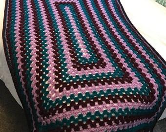 Granny Afghan - Made to order, Handmade, Crochet, Blanket