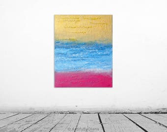 Abstract Texture Painting on Canvas - Colorful Handmade Acrylic Painting - Original Abstract Wall art - Modern Art - Contemporary Home Decor
