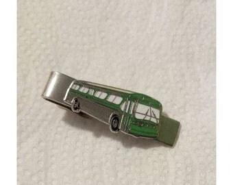 Bus Tie Clip Green - 1960's