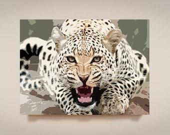 Cheetah, Print or Canvas, Animal Safari Art Decor, African Safari Picture, Leopard Lion Tiger Wall Art, Wildlife Pop Art, Cheetah Face Gift