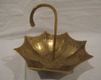 Brass Umbrella Trinket and ring dish