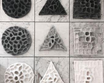 Acrylic-reliefs, little / acrylic reliefs, small