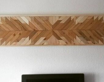 Wood wall Headboard