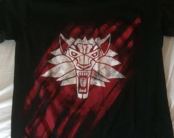 Witcher T-shirt in red and white