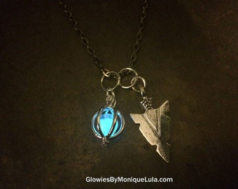 Arrow Head Pendant Glow Water Necklace Glowies