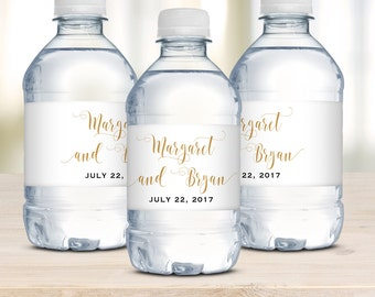 Wedding Water Bottle Labels, Waterproof Label, Personalized Water Bottle Labels, Wedding Welcome Bag Idea, Calligraphy Label, Wedding Favor