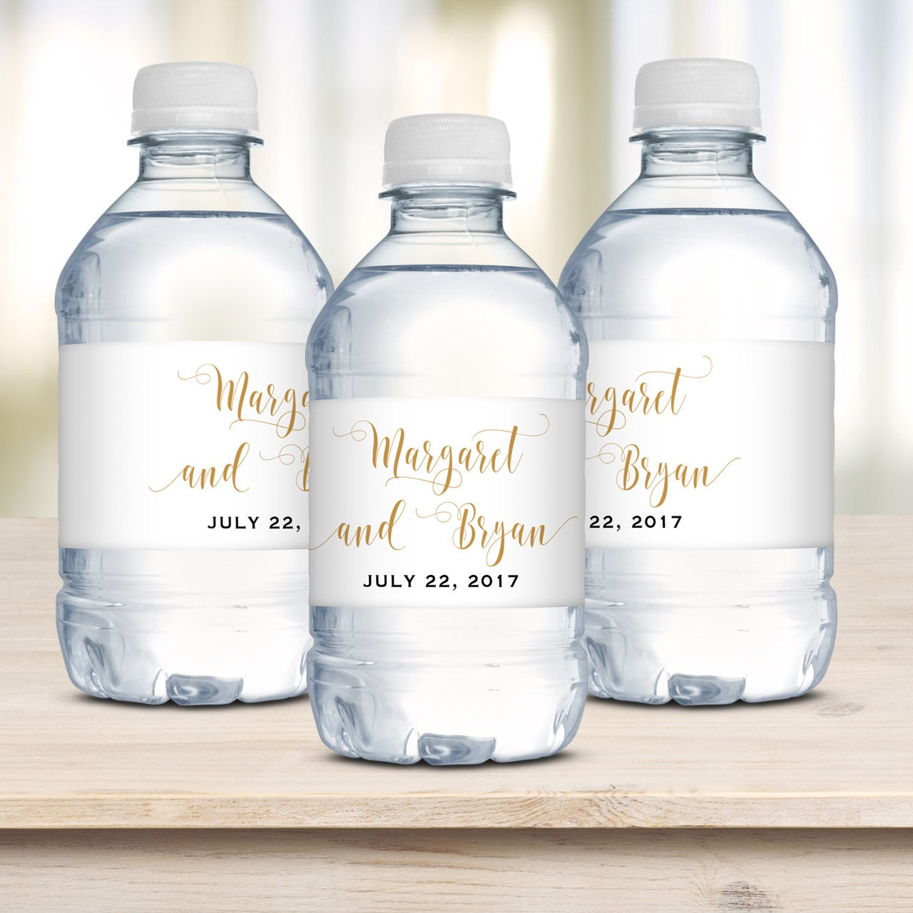 Personalized Sports Bottle Labels: Wedding Water Bottle Labels Waterproof Label Personalized