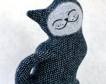 Starry Night Cat - Wool Plush