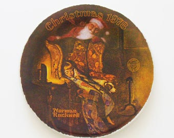 "Vintage ""Christmas Dream"" Plate / Norman Rockwell Sole 1978 Limited-Edition Christmas Plate / Edwin M. Knowles China / Unique Gift Under 50"