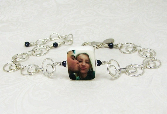 Charm Bracelet with a Photo Charm - XSM - C5RB5