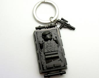 Han Solo® In Carbonite Inspired Keychain  Star Wars® Fan Art - Fan Art Crafted From LEGO® Elements