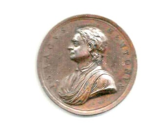 "1726 - ISAACUS NEWTON, ASTRONOMER, Philosopher, Scientist - ""Felix Cognoschere. Causas"" - Genuine Great Britain medal - , good condition"