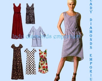 McCalls M7120 Womens Plus Size Dress, 6 Variations size L XL XXL Bust 38 40 42 44 46 48 Easy Learn to Sew for Fun Pattern 7120 Uncut FF