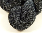 Hand Dyed Yarn - Sock Weight Superwash Merino Wool Yarn - Slate Grey Tonal - Knitting Yarn, Sock Yarn, Charcoal Gray, Fingering Yarn