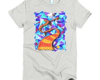 Original Art Tee - Cosmic Knitting | Psychadelic | Tessellation | Knitting | Scarf | Tshirt