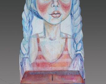 Broken System wall doll by artist Victoria Rose Martin