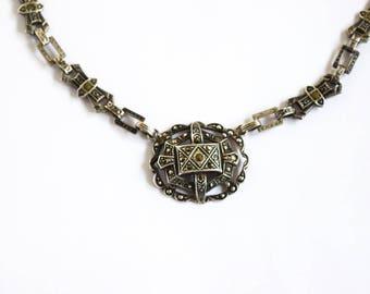 Antique Art Deco Necklace With Marcasites c.1920