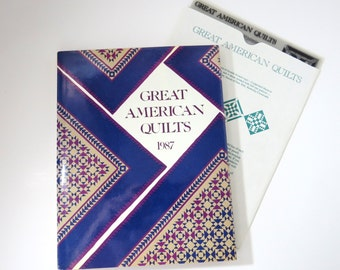 GREAT AMERICAN QUILTS 1987 with 6 Template Sheets, Quilters Favorites, Vintage 80s Book  How To Instructions, Patterns