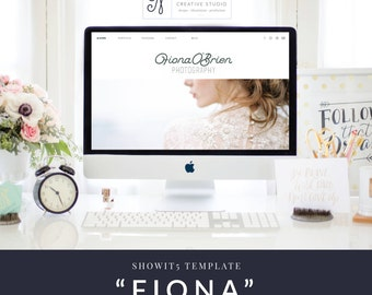 FIONA - SHOWIT5 + WORDPRESS TEMPLATE - Enterpreneur - Bosslady - Photographer - Blogger - Designer - Website - Templates- Instand Download