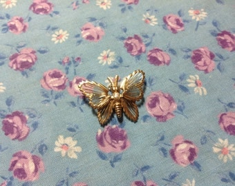 Vintage Butterfly Brooch, Monet Brooch, Monet butterfly pin, 70's Monet brooch