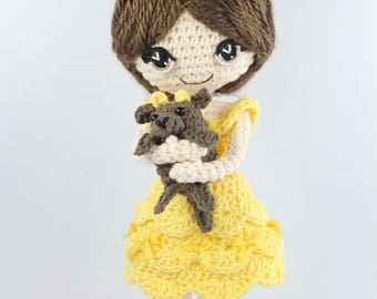 PATTERN: Beauty and the Beast Crochet Amigurumi Dolls