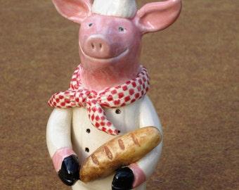 Master Baker Pig made of clay