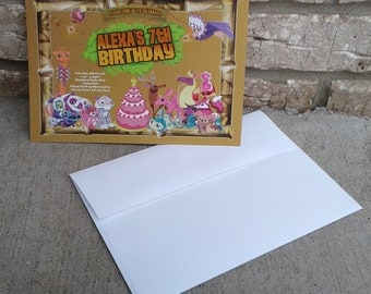 Animal Jam Birthday Invitation