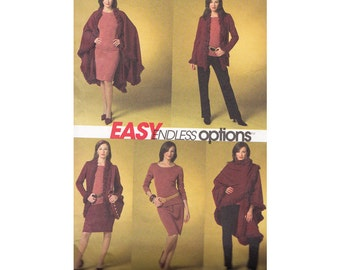 "Cape, Jacket, Top, Skirt and Pants Bust 29 to 36"" McCalls Easy Options 4977 Sizes 4 to 14 ©2005 Sewing Pattern"