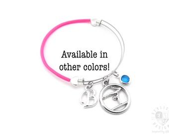Gymnastics Gifts, Gymnastics Bracelet, Gymnast Gifts, Gymnast Bracelet, Gymnastics Bangle Bracelet, Gifts for Gymnast