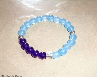 SCORPIO Bracelet, Zodiac Bracelet, Aquamarine Jewelry, Amethyst Bracelet, Astrology Bracelet, Zodiac Jewelry,Blue Jewelry, Gemstone Bracelet