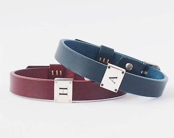 Mens Personalised Leather Bracelet - LB01_S2