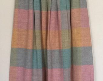 Vintage Prophecy Pastel Plaid Midi Skirt