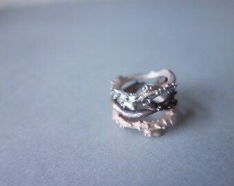 Rose Thorns Ring, statement ring jewellery