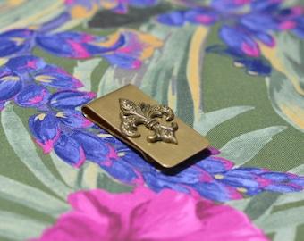 fleur de lis money clip