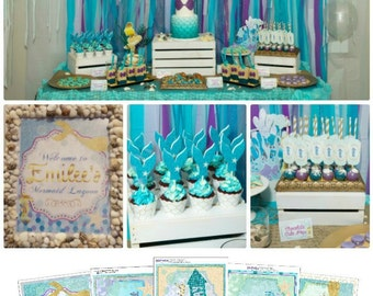 85% OFF | Mermaid Party Printable | Under the Sea Party Mermaid Birthday | Under the Sea Printable | Decorations | Epic Parties by REVO