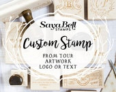 Custom Stamp for Business, Personal or Weddings, Custom Rubber Stamp with your Logo, Invitation or Save the Date, Business Stamp