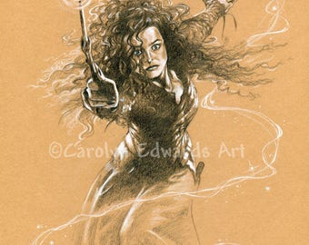 HARRY POTTER - Bellatrix Lestrange A4 Art Print (29.7 x 21cm)