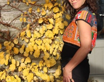 Thai Hill Tribe Embroidered Bolero Jacket