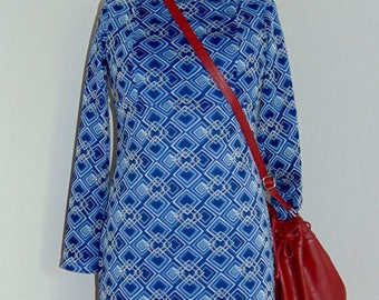 Mongolian Print Off shoulder Dress