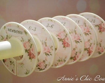 Floral Closet Dividers, Vintag, Closet Dividers, Closet Organizers, Baby closet dividers, Baby shower gift, Girl Clothes divider, C140