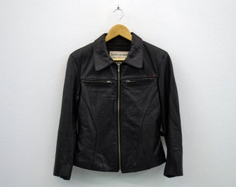 Guess Leather Jacket Vintage Guess Biker Jacket Womens Size S