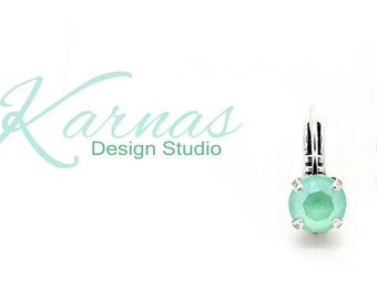 MINT GREEN 2018 Lacquer Pro 8mm Crystal Stud or Drop Earrings Swarovski Crystal *Pick Your Finish *Karnas Design Studio *Free Shipping