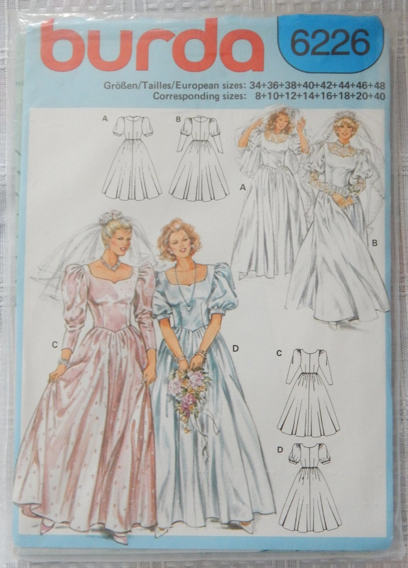 Wedding dress sewing pattern fitted bodice lace insert for Lace wedding dress patterns to sew