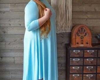 Vintage Curve Midi Cotton Shift Dress