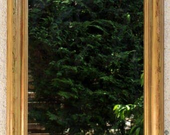 Antique mirror, French Louis-Philippe mirror, wall mirror gilded with gold leaf