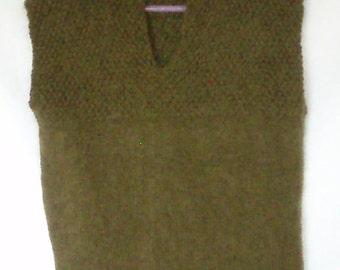 Child's Olive Knitted Vest
