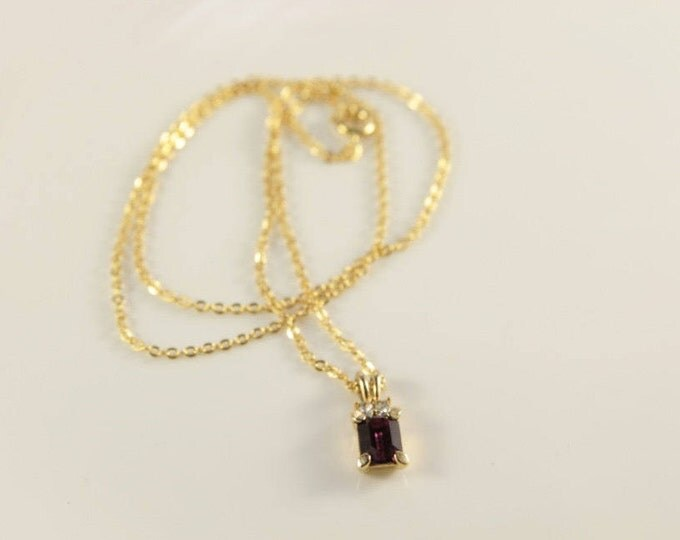 Amethyst Necklace Bridal Gold Necklace Mothers Day Gift Cheap Jewelry Square Pendant Vintage Costume Jewellery Purple Violet Necklace