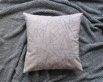 Pink Cushion Cover, Throw Pillow Cover, Throw Cushion Cover, Decorative Cushion Cover, Decorative Pillow Cover - Geometric Lines