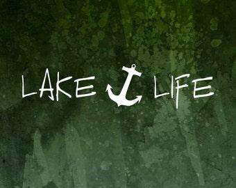 Lake Life Anchor Decal | Lake Decal | Adventure Decal | Boat Decal | Anchor Decal | Kayak Decal | Kayak Sticker | Lake Life Sticker
