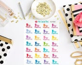 HCP06D Colorful Clean the Bathroom Planner Stickers